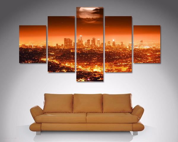 City Of Angels (Los Angeles) 5 Piece Diamond Shaped Wall Art 5 Piece Diamond Shaped Wall Art Dunn Furniture - Online Office Furniture for Brisbane Sydney Melbourne Canberra Adelaide