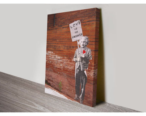 Love is the Answer By Banksy Wall Art Banksy Dunn Furniture - Online Office Furniture for Brisbane Sydney Melbourne Canberra Adelaide