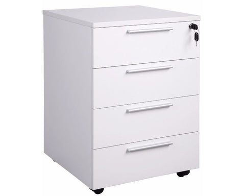 OLG Aero Mobile Pedestal 4 Drawers Mobile Storage Units Dunn Furniture - Online Office Furniture for Brisbane Sydney Melbourne Canberra Adelaide
