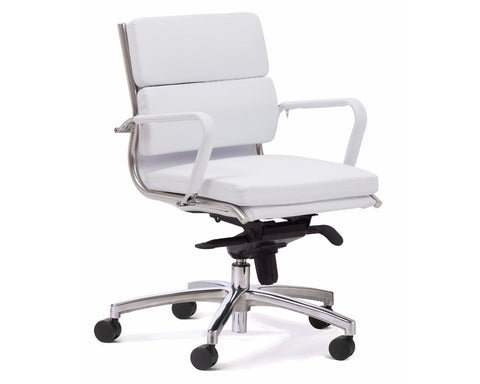 OLG Mode Midback Executive Chair White Executive Chairs Dunn Furniture - Online Office Furniture for Brisbane Sydney Melbourne Canberra Adelaide