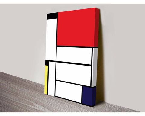 Mondrian Tableau II By Piet Mondrian Wall Art Modern Art Dunn Furniture - Online Office Furniture for Brisbane Sydney Melbourne Canberra Adelaide