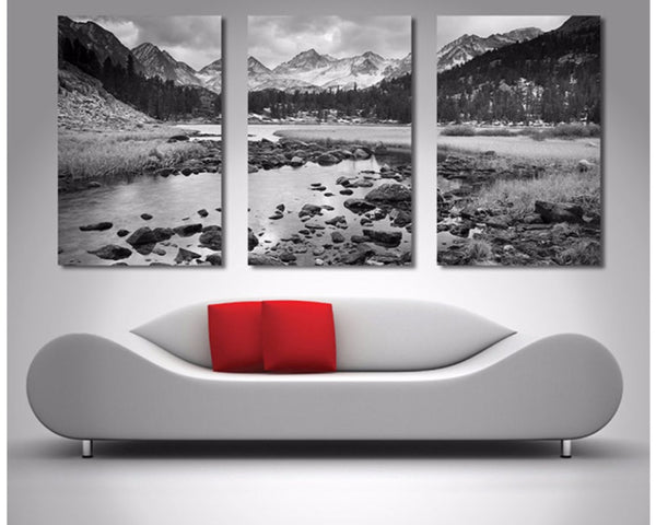 Mountain Stream Triptych 3 Piece Wall Art 3 Piece Wall Art Dunn Furniture - Online Office Furniture for Brisbane Sydney Melbourne Canberra Adelaide