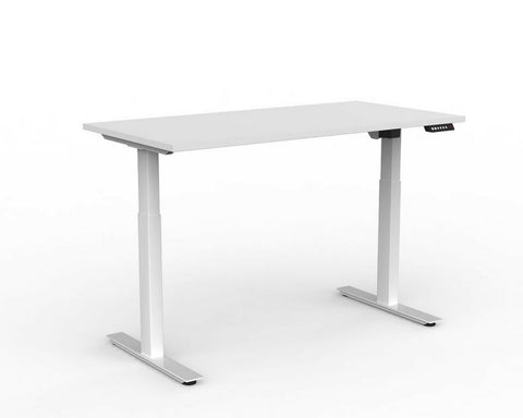 OLG Agile Electric Height Adjustable Desk 2 Column White Standing Desks Dunn Furniture - Online Office Furniture for Brisbane Sydney Melbourne Canberra Adelaide