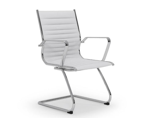 OLG Metro Visitor Chair White Visitor Chairs Dunn Furniture - Online Office Furniture for Brisbane Sydney Melbourne Canberra Adelaide