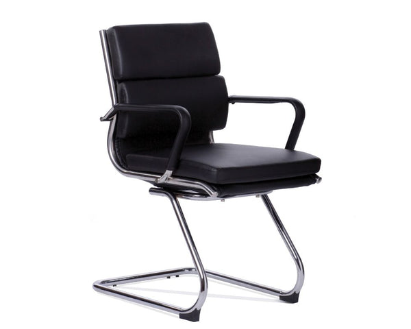OLG Mode Visitor Chair Black Visitor Chairs Dunn Furniture - Online Office Furniture for Brisbane Sydney Melbourne Canberra Adelaide