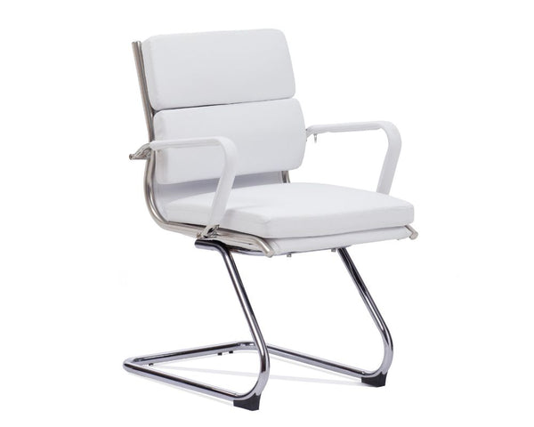 OLG Mode Visitor Chair White Visitor Chairs Dunn Furniture - Online Office Furniture for Brisbane Sydney Melbourne Canberra Adelaide