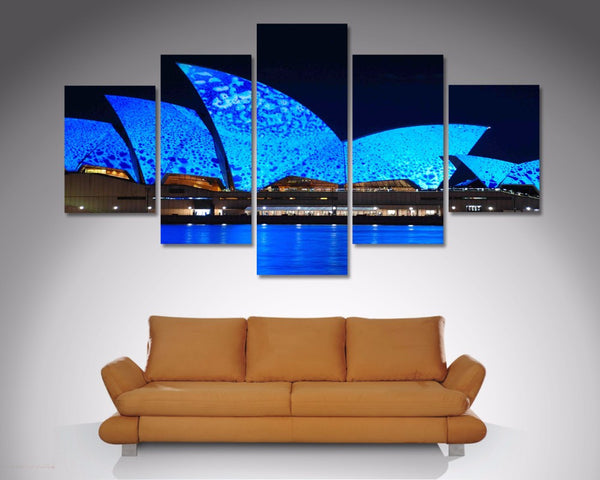Blue Sydney Opera House 5 Piece Diamond Shaped Wall Art 5 Piece Diamond Shaped Wall Art Dunn Furniture - Online Office Furniture for Brisbane Sydney Melbourne Canberra Adelaide