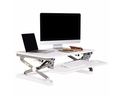 Rapid Riser Sit Stand Desk Platform Medium Standing Desks Dunn Furniture - Online Office Furniture for Brisbane Sydney Melbourne Canberra Adelaide