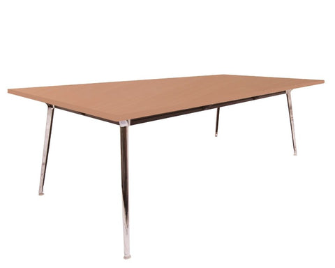 Rapid Air Boardroom Table Beech 2400 x 1200 Boardroom Tables Dunn Furniture - Online Office Furniture for Brisbane Sydney Melbourne Canberra Adelaide