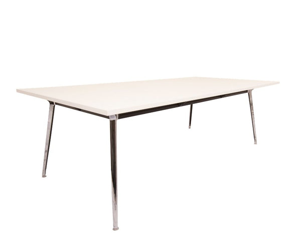 Rapid Air Boardroom Table White 2400 x 1200 Boardroom Tables Dunn Furniture - Online Office Furniture for Brisbane Sydney Melbourne Canberra Adelaide