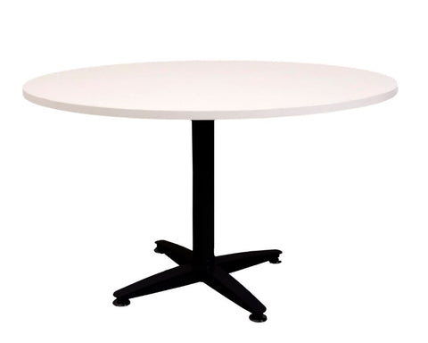 Rapidline Rapid Span 4 Star Round White / Black Meeting Tables Dunn Furniture - Online Office Furniture for Brisbane Sydney Melbourne Canberra Adelaide