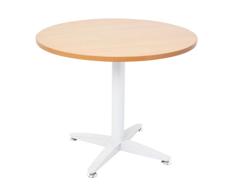 Rapidline Rapid Span 4 Star Round Beech / White Meeting Tables Dunn Furniture - Online Office Furniture for Brisbane Sydney Melbourne Canberra Adelaide
