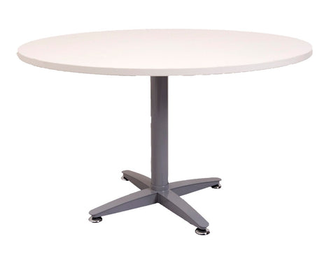 Rapidline Rapid Span Round Table Four Star White / Silver Meeting Tables Dunn Furniture - Online Office Furniture for Brisbane Sydney Melbourne Canberra Adelaide