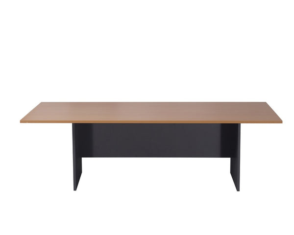 Rapidline Boardroom Table 2400mm Beech/Ironstone Boardroom Tables Dunn Furniture - Online Office Furniture for Brisbane Sydney Melbourne Canberra Adelaide