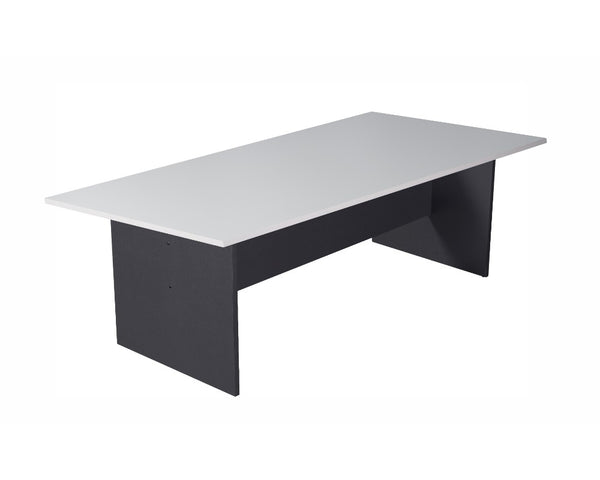 Rapidline Boardroom Table 2400mm White/Ironstone Boardroom Tables Dunn Furniture - Online Office Furniture for Brisbane Sydney Melbourne Canberra Adelaide