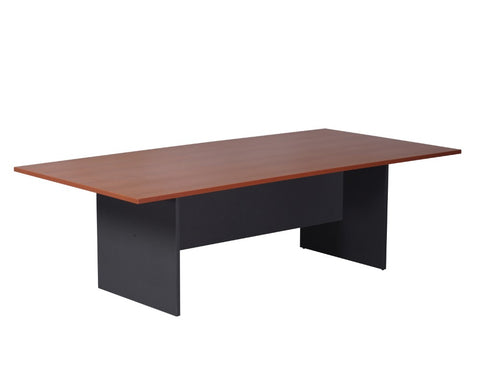 Rapidline Boardroom Table 3200mm Cherry Ironstone Boardroom Tables Dunn Furniture - Online Office Furniture for Brisbane Sydney Melbourne Canberra Adelaide