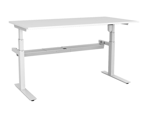 Rapid Paramount Height Adjustable Single Desk Standing Desks Dunn Furniture - Online Office Furniture for Brisbane Sydney Melbourne Canberra Adelaide