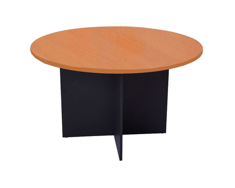 Rapidline Rapid Worker Round Meeting Table Cherry Ironstone Meeting Tables Dunn Furniture - Online Office Furniture for Brisbane Sydney Melbourne Canberra Adelaide