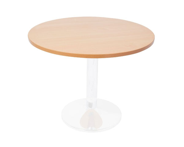 Rapidline Round Meeting Table Disc Base White / Beech Meeting Tables Dunn Furniture - Online Office Furniture for Brisbane Sydney Melbourne Canberra Adelaide