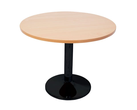 Rapidline Round Meeting Table Disc Base Beech / Black Meeting Tables Dunn Furniture - Online Office Furniture for Brisbane Sydney Melbourne Canberra Adelaide