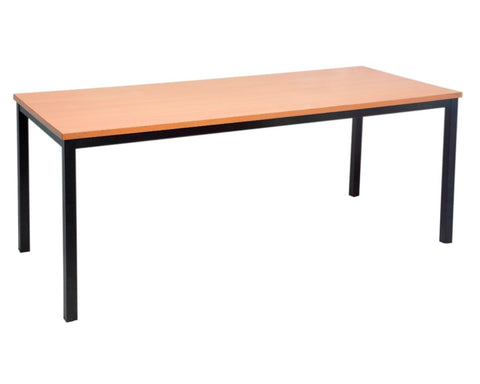 Rapidline Steel Frame Table In Beech Meeting Tables Dunn Furniture - Online Office Furniture for Brisbane Sydney Melbourne Canberra Adelaide