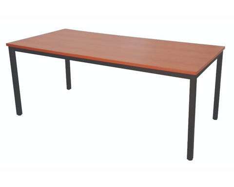 Rapidline Steel Frame Table In Cherry Meeting Tables Dunn Furniture - Online Office Furniture for Brisbane Sydney Melbourne Canberra Adelaide