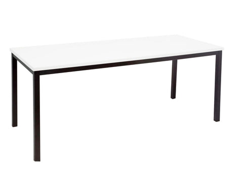 Rapidline Steel Frame Table In White Meeting Tables Dunn Furniture - Online Office Furniture for Brisbane Sydney Melbourne Canberra Adelaide