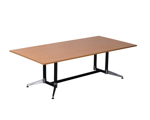 Rapidline Typhoon Boardroom Table Beech 2400 Boardroom Tables Dunn Furniture - Online Office Furniture for Brisbane Sydney Melbourne Canberra Adelaide