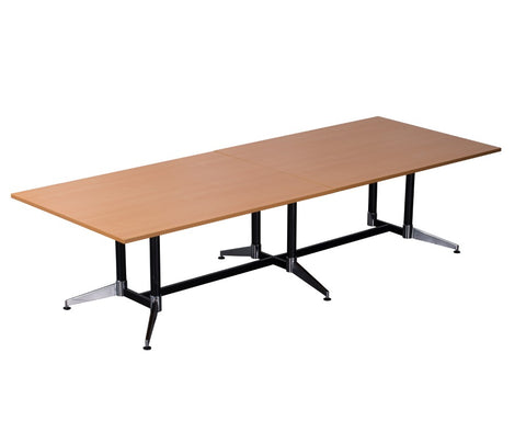 Rapidline Typhoon Boardroom Table Beech 3200 Boardroom Tables Dunn Furniture - Online Office Furniture for Brisbane Sydney Melbourne Canberra Adelaide