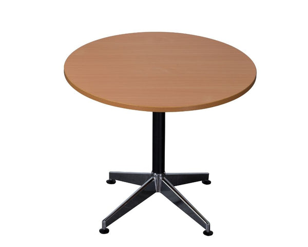 Rapidline Typhoon Round Meeting Table Beech Meeting Tables Dunn Furniture - Online Office Furniture for Brisbane Sydney Melbourne Canberra Adelaide
