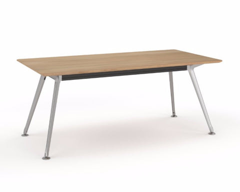 OLG Team Meeting Table Beech With Polished Alloy Frame Meeting Tables Dunn Furniture - Online Office Furniture for Brisbane Sydney Melbourne Canberra Adelaide