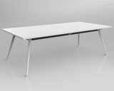 OLG Team Meeting Table White With White Frame Meeting Tables Dunn Furniture - Online Office Furniture for Brisbane Sydney Melbourne Canberra Adelaide