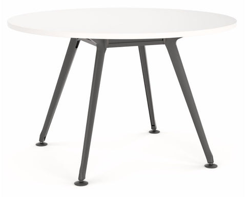 OLG Team Round Meeting Table With Black Frame Meeting Tables Dunn Furniture - Online Office Furniture for Brisbane Sydney Melbourne Canberra Adelaide