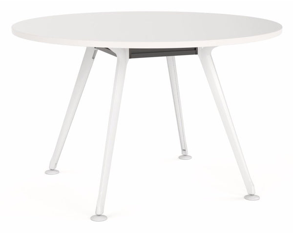 OLG Team Round Meeting Table With White Frame Meeting Tables Dunn Furniture - Online Office Furniture for Brisbane Sydney Melbourne Canberra Adelaide