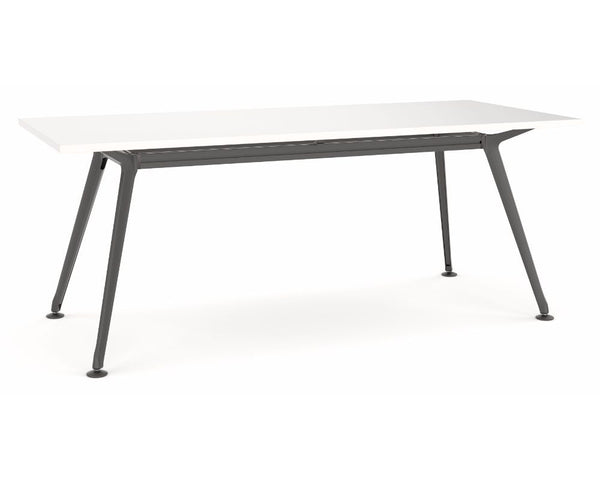 OLG Team Meeting Table White With Black Frame Meeting Tables Dunn Furniture - Online Office Furniture for Brisbane Sydney Melbourne Canberra Adelaide