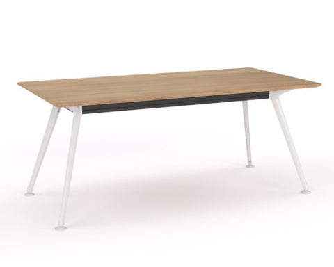 OLG Team Meeting Table Beech With White Frame Meeting Tables Dunn Furniture - Online Office Furniture for Brisbane Sydney Melbourne Canberra Adelaide