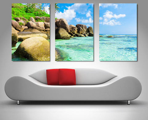 Tropical Paradise Triptych 3 Piece Wall Art 3 Piece Wall Art Dunn Furniture - Online Office Furniture for Brisbane Sydney Melbourne Canberra Adelaide