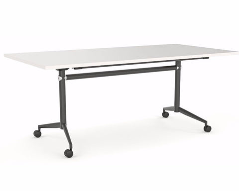 OLG Uni Flip Table White With Black Frame Meeting Tables Dunn Furniture - Online Office Furniture for Brisbane Sydney Melbourne Canberra Adelaide