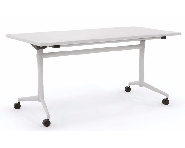 OLG Uni Flip Table White With White Frame Meeting Tables Dunn Furniture - Online Office Furniture for Brisbane Sydney Melbourne Canberra Adelaide