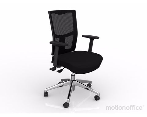 OLG Urban Mesh Chair Alloy Base Black With Height Adjustable Arms Executive Chairs Dunn Furniture - Online Office Furniture for Brisbane Sydney Melbourne Canberra Adelaide