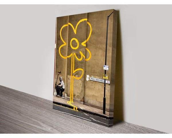 Yellow Line Man By Banksy Wall Art Banksy Dunn Furniture - Online Office Furniture for Brisbane Sydney Melbourne Canberra Adelaide