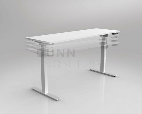 OLG Agile Electric Height Adjustable Desk White - 3 Column Standing Desks Dunn Furniture - Online Office Furniture for Brisbane Sydney Melbourne Canberra Adelaide