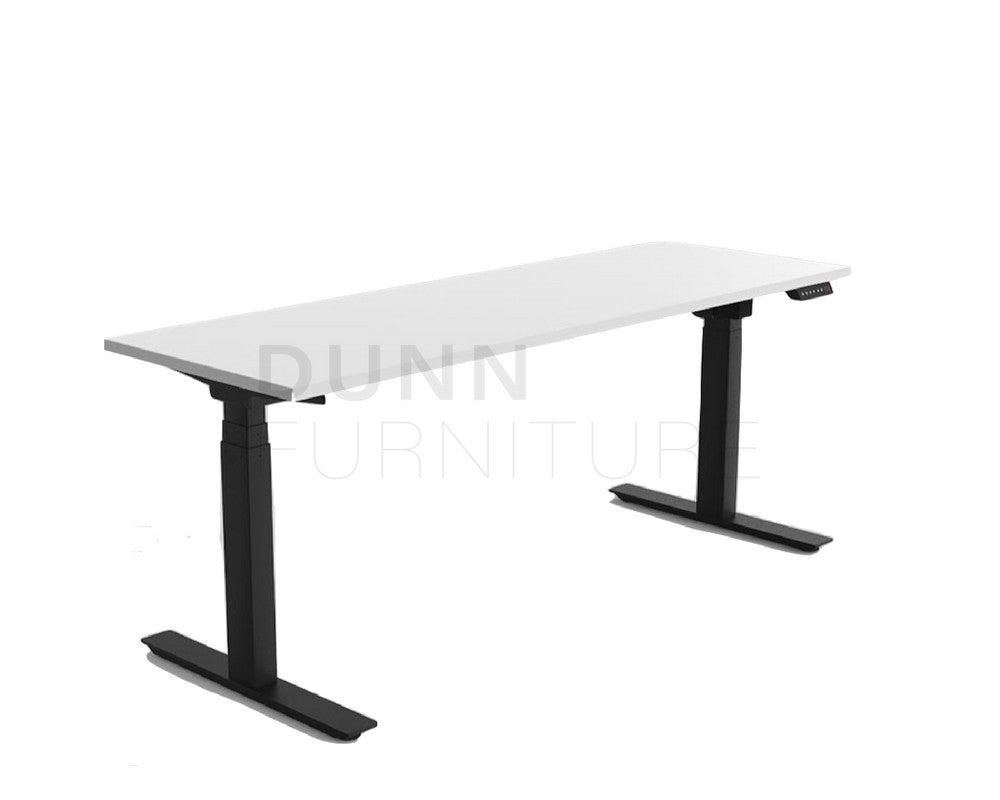 White Black Electric Standing Height Adjustable Sit Stand Desk Olg