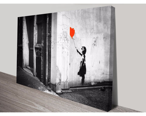 Balloon Girl Black & White By Banksy Wall Art Banksy Dunn Furniture - Online Office Furniture for Brisbane Sydney Melbourne Canberra Adelaide