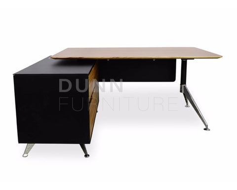 Eclipse Executive Desk Left Return Oak Executive Desks Dunn Furniture - Online Office Furniture for Brisbane Sydney Melbourne Canberra Adelaide