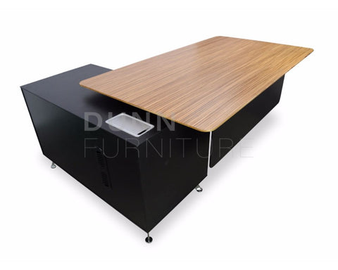 Eclipse Executive Desk Right Return Oak Executive Desks Dunn Furniture - Online Office Furniture for Brisbane Sydney Melbourne Canberra Adelaide
