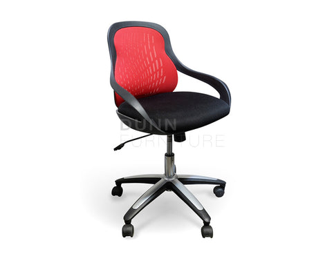 Ava Mesh Office Chair Red Task Chairs Dunn Furniture - Online Office Furniture for Brisbane Sydney Melbourne Canberra Adelaide