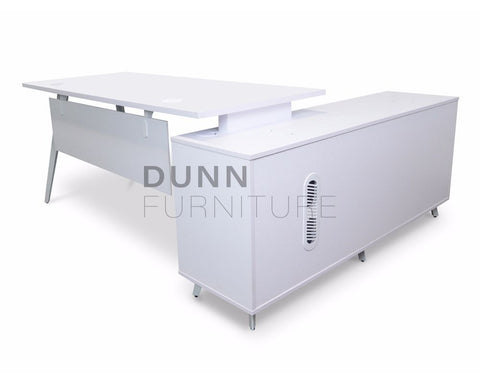 Targus Executive Desk Left Return Executive Desks Dunn Furniture - Online Office Furniture for Brisbane Sydney Melbourne Canberra Adelaide
