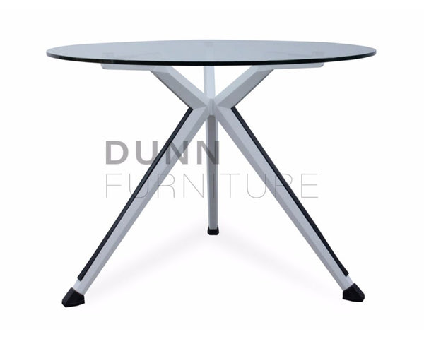 Sonic Round Meeting Table Glass Top Meeting Tables Dunn Furniture - Online Office Furniture for Brisbane Sydney Melbourne Canberra Adelaide