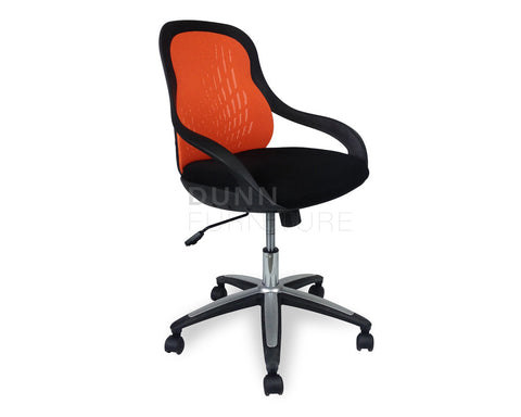 Ava Mesh Office Chair Orange Task Chairs Dunn Furniture - Online Office Furniture for Brisbane Sydney Melbourne Canberra Adelaide